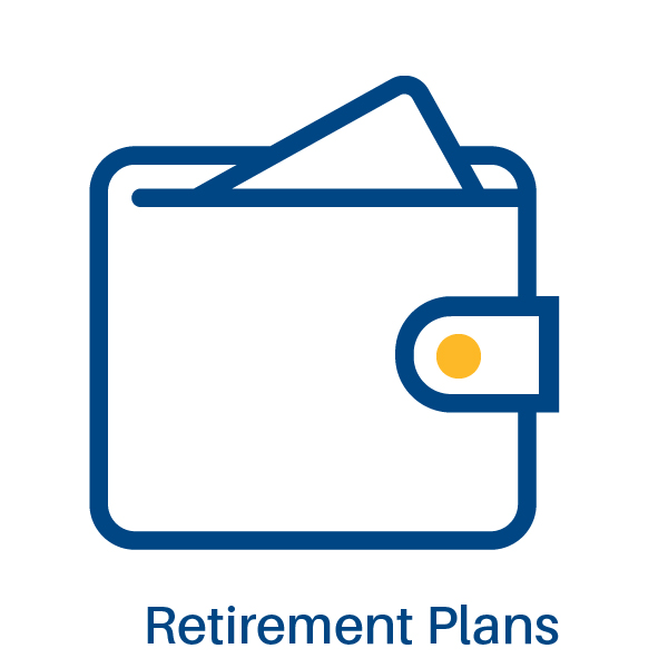 graphic representing retirement plans