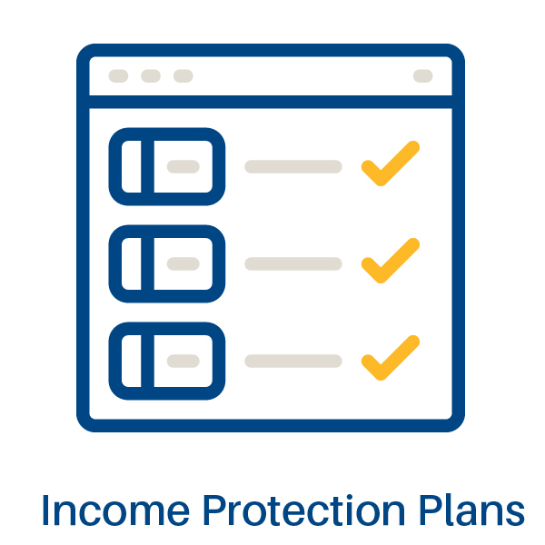 graphic representing income protection plans