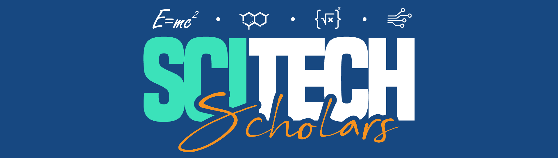 This is a photo of the SciTech Scholar banner.