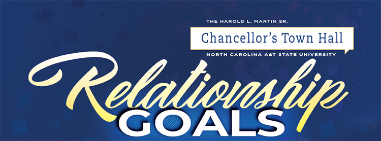 chancellor s town hall at n c a t to focus on healthy relationships