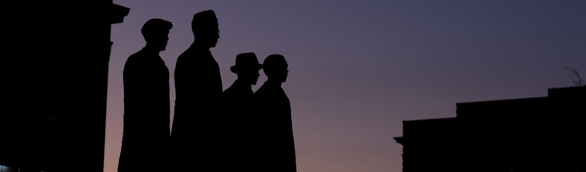 Silhouette image of A&T Four Memorial.